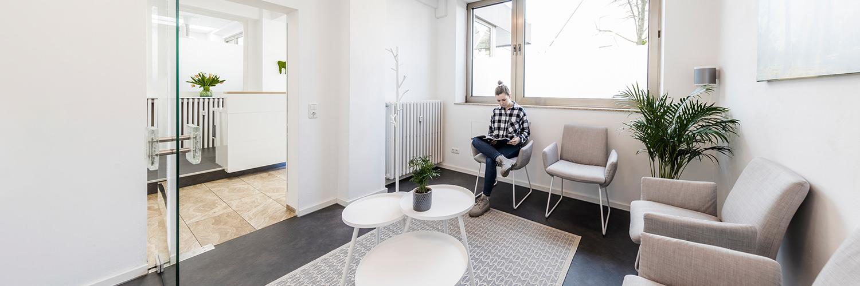 Zahnarzt Köln Lindenthal - Saager - Wartezimmer der Praxis