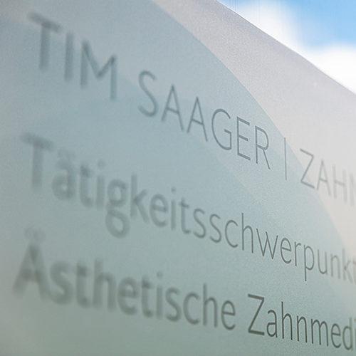 Zahnarzt Köln Lindenthal - Saager - Praxisschild